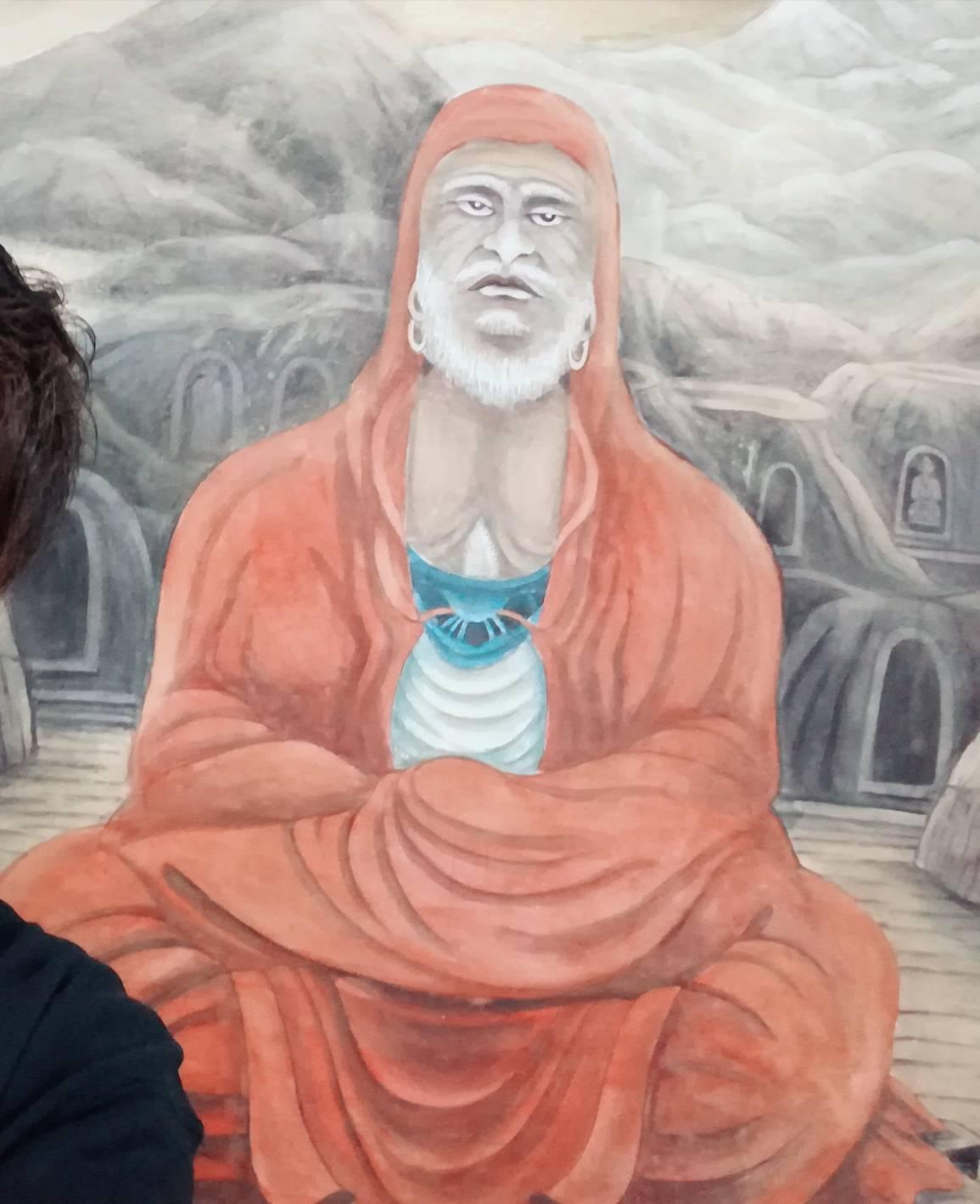 達磨寺にある達磨の絵