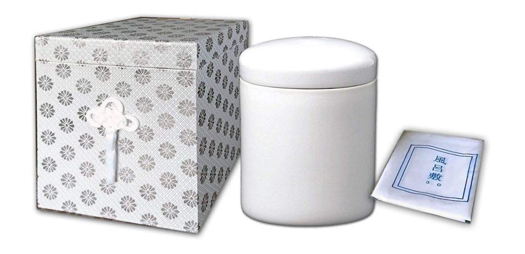 白骨壷7寸+銀張箱+風呂敷3尺