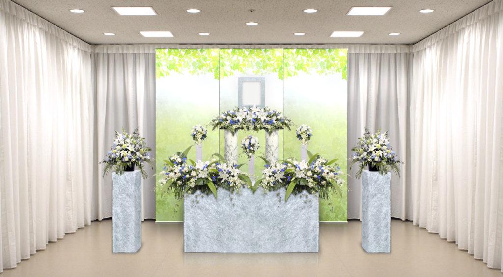 家族葬のつばさ選べる生花祭壇3