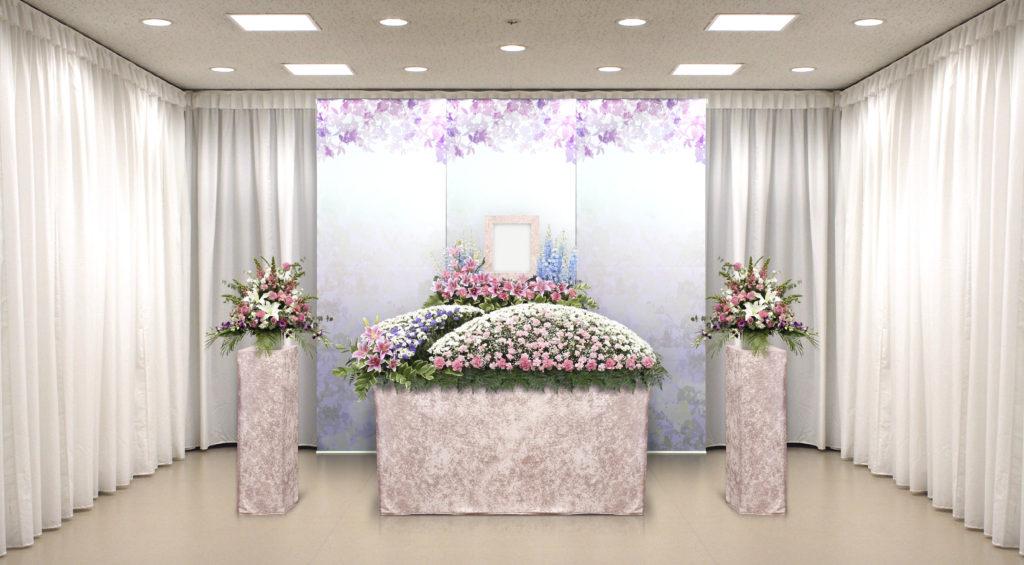 家族葬のつばさ選べる生花祭壇1