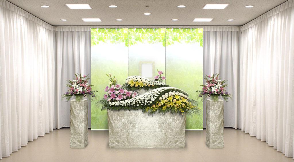 家族葬のつばさ選べる生花祭壇2