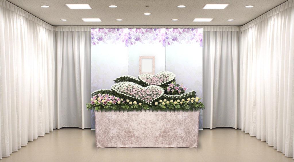 家族葬のつばさ選べる生花祭壇6