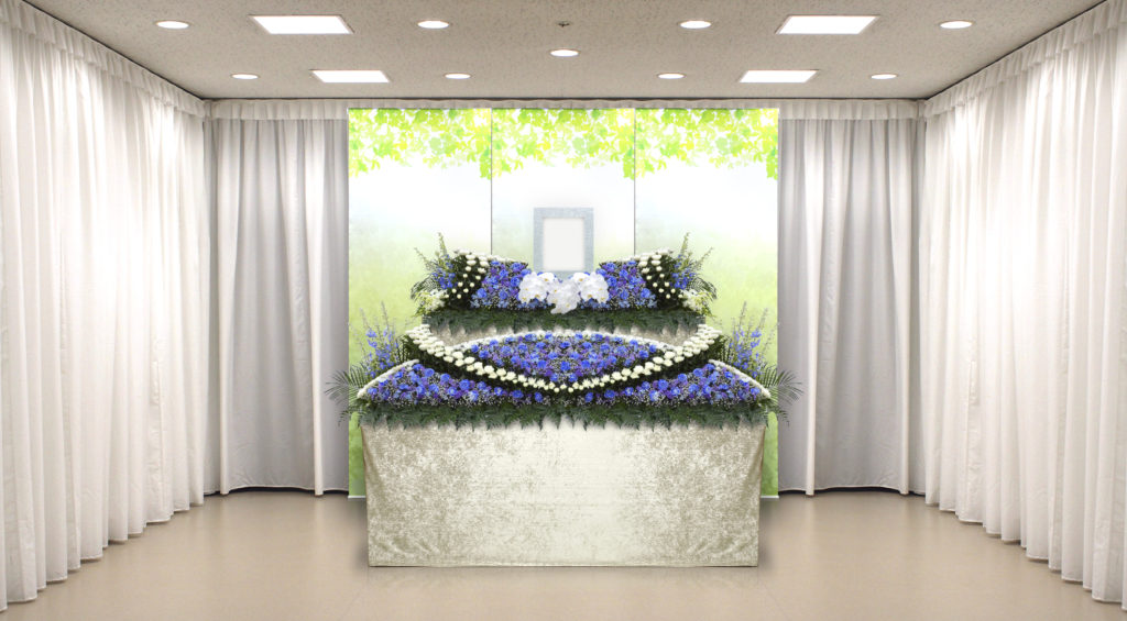 家族葬のつばさ選べる生花祭壇7
